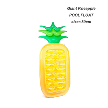 custom 0.25mm PVC giant inflatable pineapple pool float beach mattress