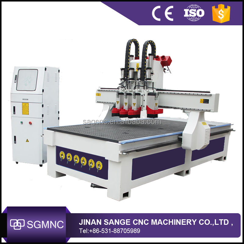 Vacuum bed wood MDF board cutting engraver cnc router with dust collector system