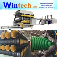 High speed HDPE PP PVC Double Wall Corrugated Pipe Machine/Extrusion Line