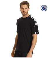 Zipper pocket striped panels sleeve t shirts