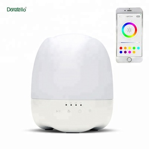Efficient Ultrasonic Aroma Diffuser with Timer Setting Alarm Clock LED Light