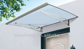 Solid Aluminum Frame Shade Canopy Wind Resistant Outdoor Metal Roof