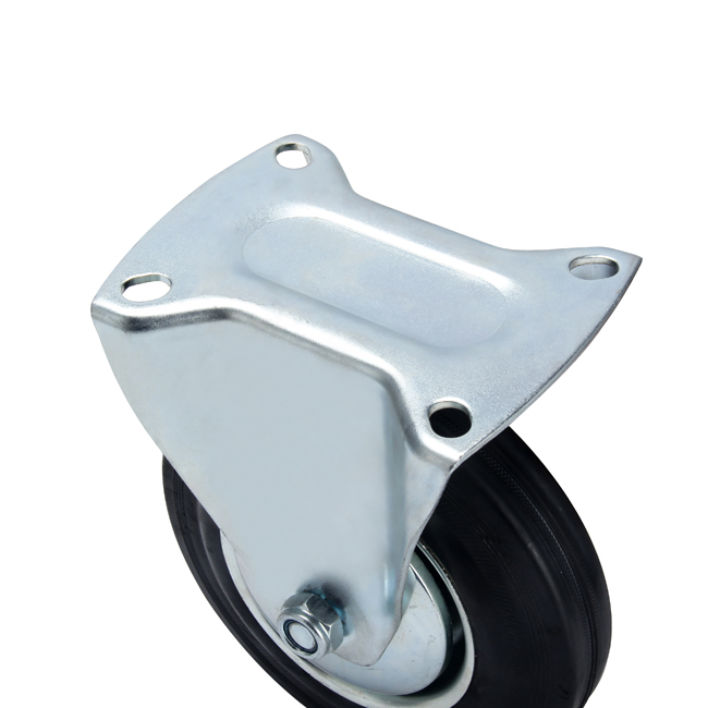 100mm Medium Duty Industry Rigid Rubber Caster Wheel