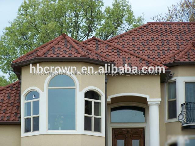 billige rote farbe sand beschichtete keramik metall dachziegel bild dachziegel produkt id. Black Bedroom Furniture Sets. Home Design Ideas