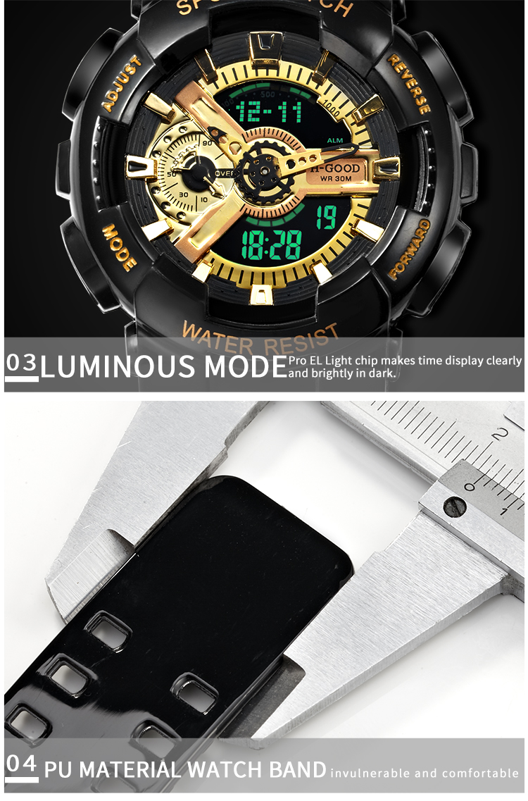2019 Amazon Hot oem automatic watch odm multifunction sport H-GOOD 299