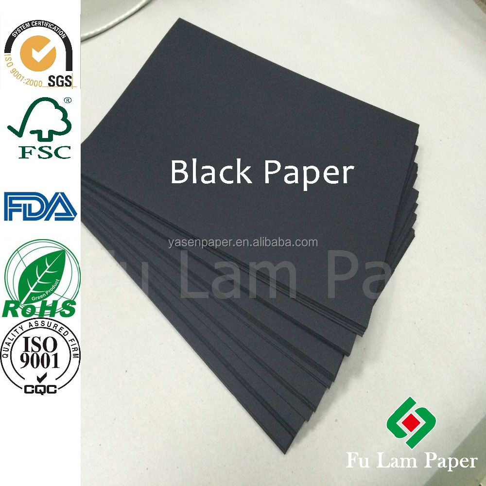 250g Black Card Board Paper/300g Black Paper Cardboard