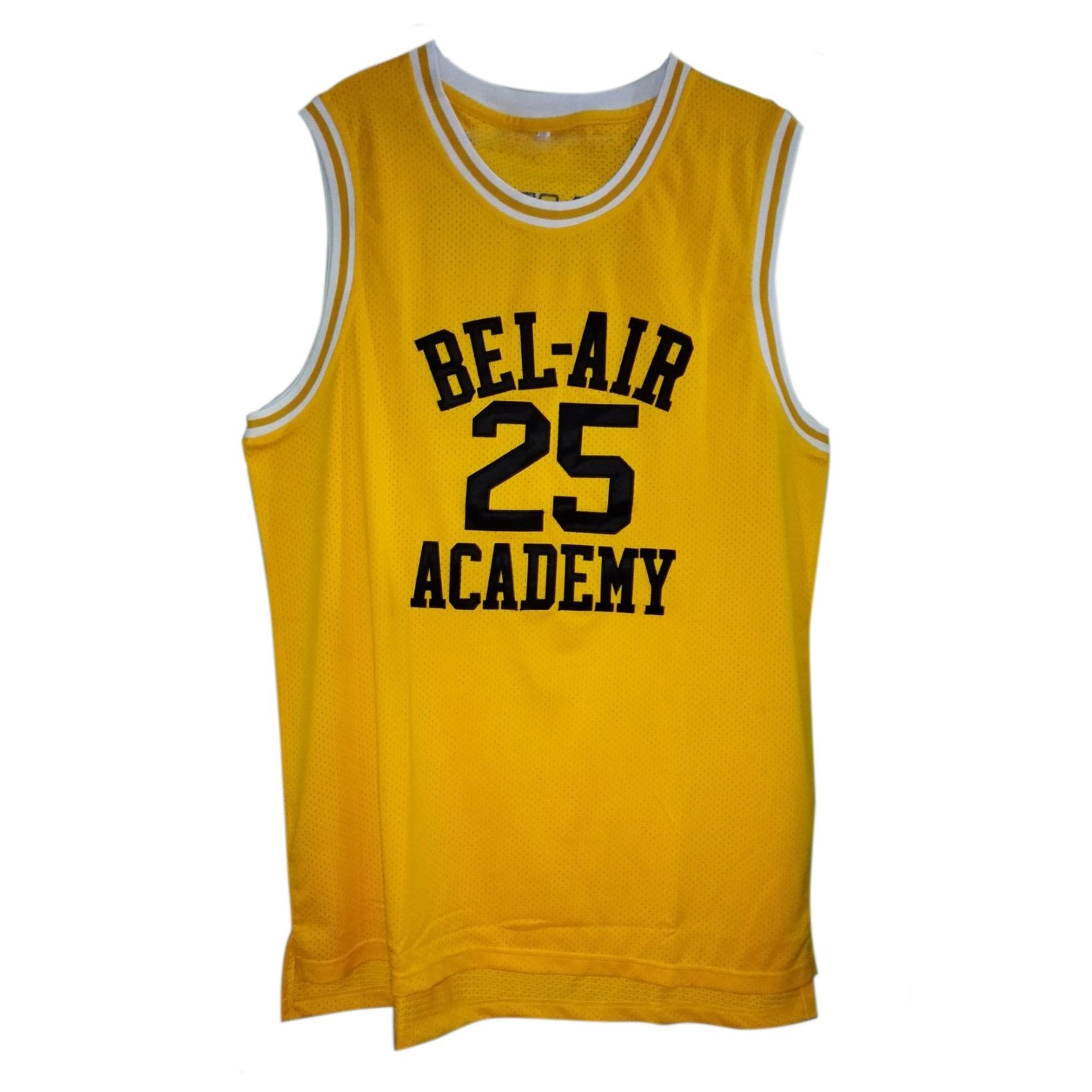 Get Quotations · MOLPE Banks  25 Bel Air Yellow Basketball Jersey S-XXXL 3b2a7872f