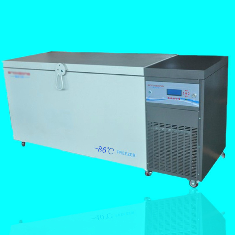 0~-86 Degree Below Zero 208L Horizontal Ultra Low Temperature Refrigerator Thermostatic Laboratory Freezer Box Industry Use