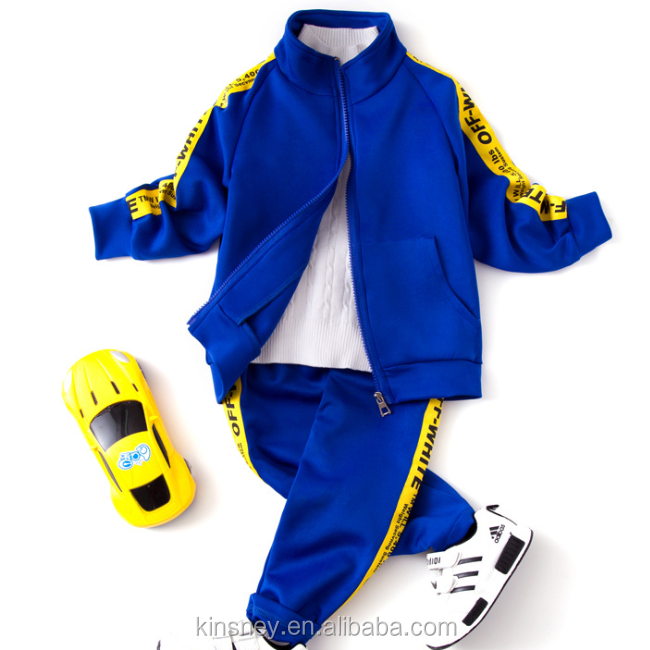 KS10297B Simple words print boys sweat suits new autumn school tracksuits