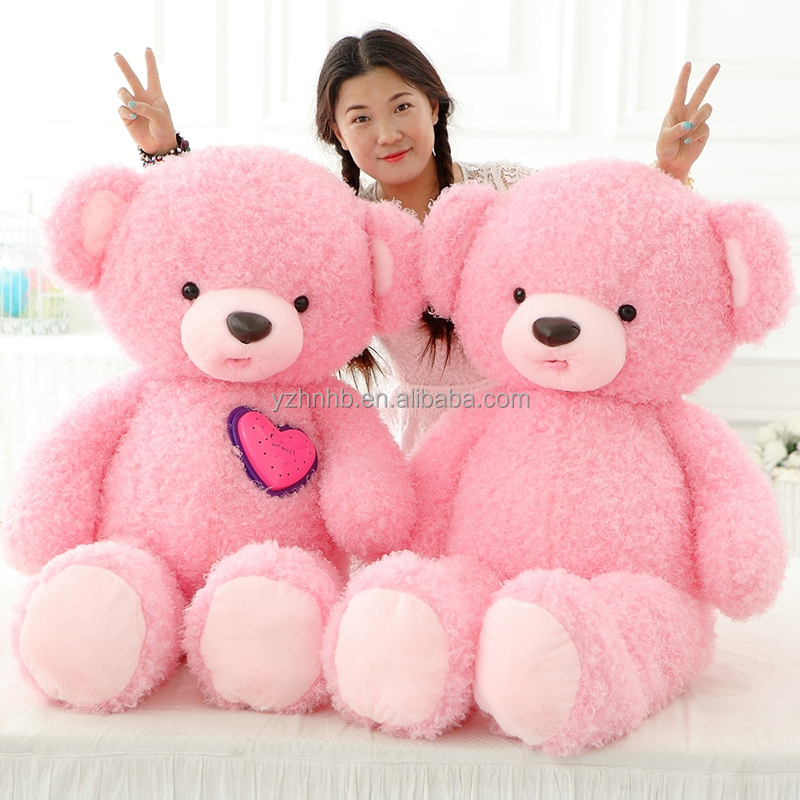 All Size Manufacturers wholesale free samples plush teddy bear / wholesale led bear toys / plush led lamp beads