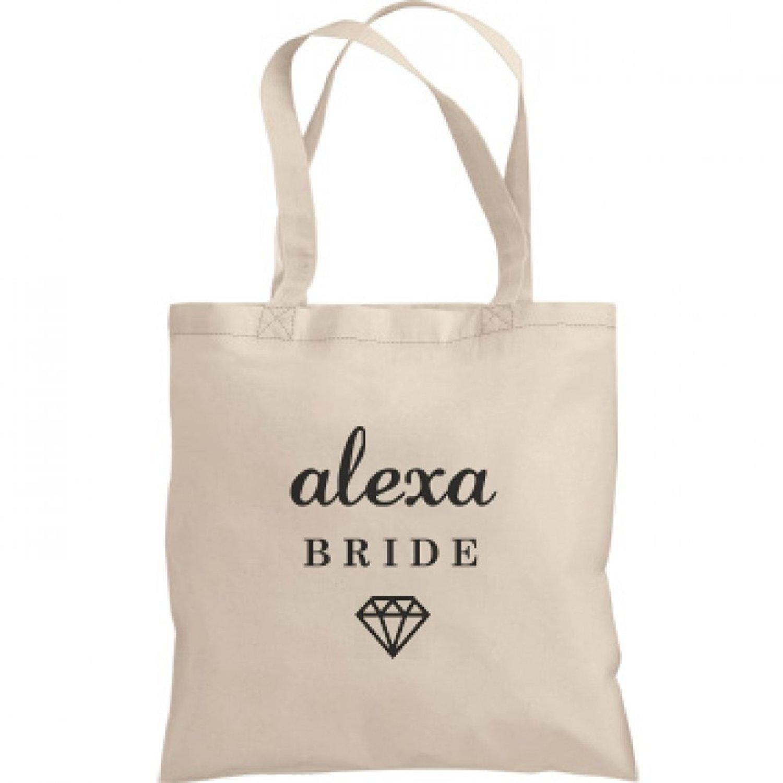 Cute Bride Alexa Tote Bag  Liberty Bags Canvas Bargain Tote Bag a45afc158f27c