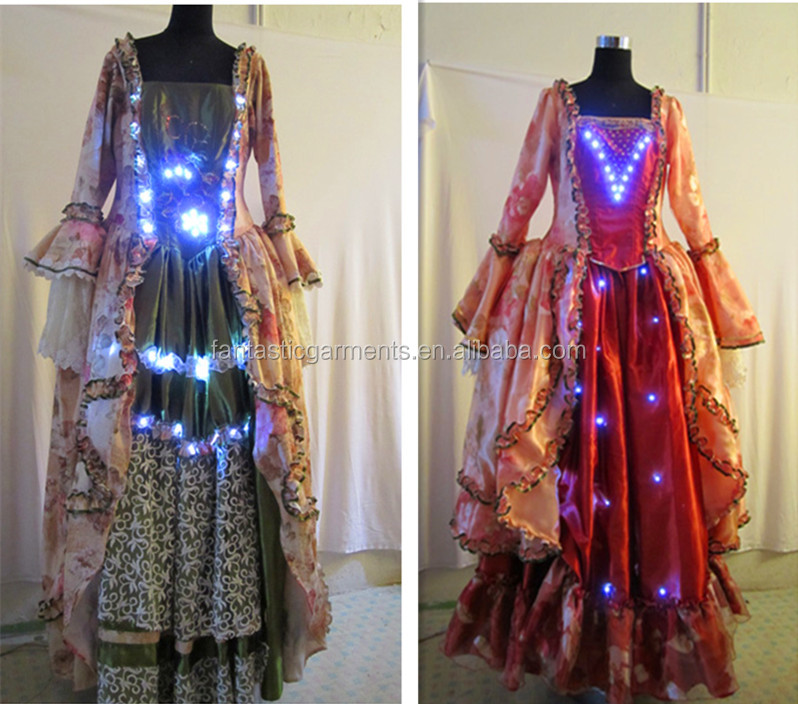 women's LED lighting Belly Dance Performance Costumes/ladies luminous stage dress for shows 420008