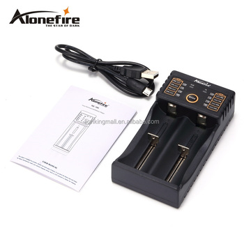 Alonefire MC202 Intelligent Li-ion 1.2-3.7v LiFePO4 Ni-MH Ni-Cd Rechargeable battery USB charger 26650 18650 18350 10440 16340