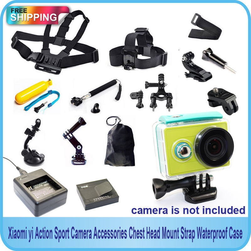 Free Shipping!!Xiaomi yi Action Sport Camera Accessories Chest Head Mount Strap Waterproof Case