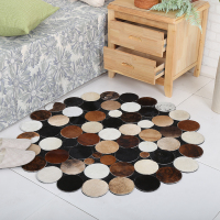 hot sell cowhide area natural cowhide hair-on rug cowhide square