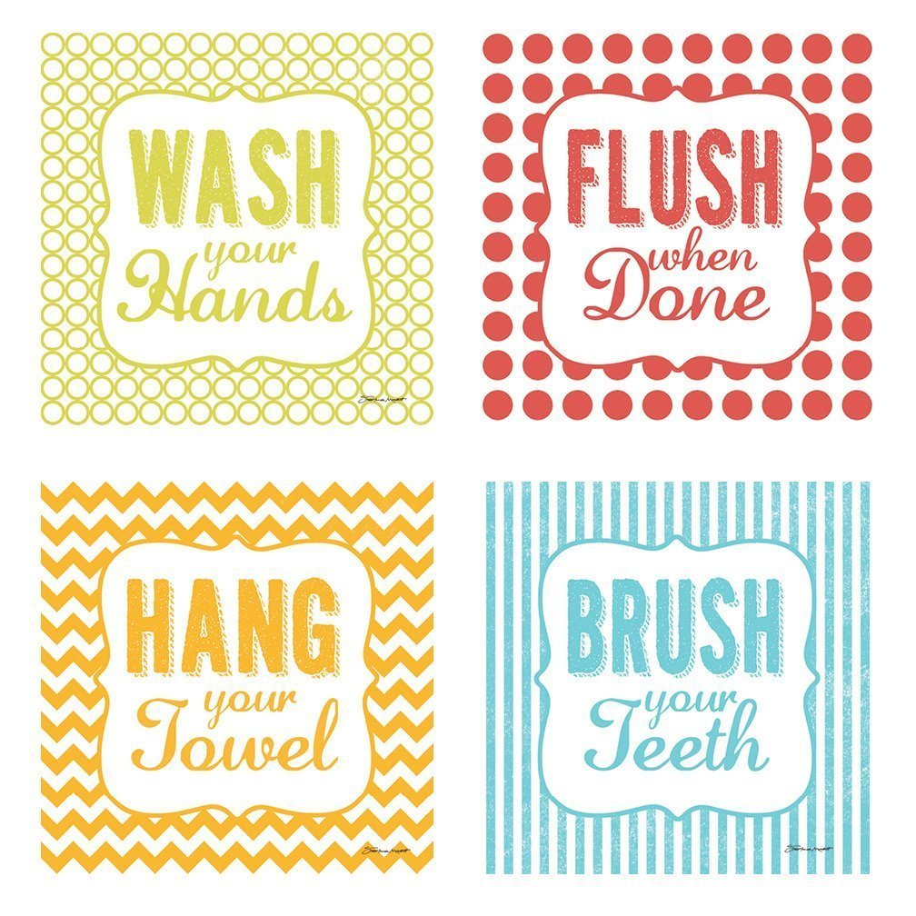 Buy Hang Your Towel, Flush When Done, Brush Your Teeth and Wash Your ...