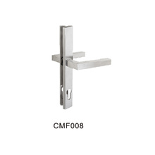 Stainless steel door lever handle plate