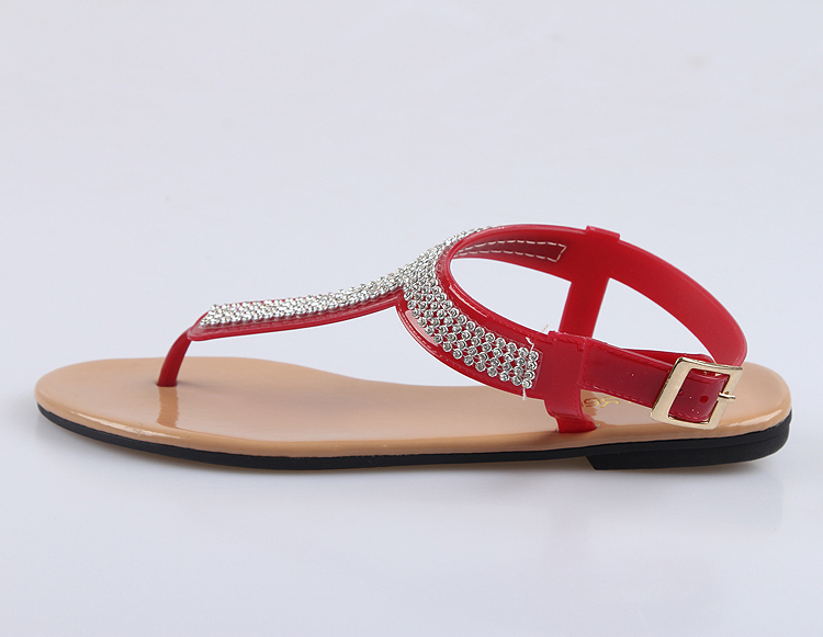 2016 Latest Design Flats Summer Sandals Cheap Pvc Shoes Crystal ...