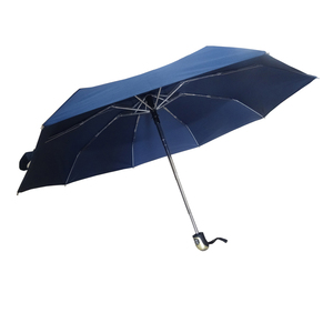 High end blue color 4 folded strong aluminum frame umbrella
