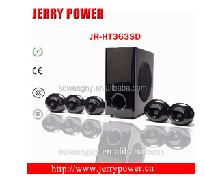 Jerry new brand speaker for computer/DVD/TV/home theater system with usb/sd/fm/ bass/3d sround