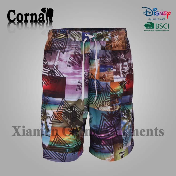 2017 Wholesale cheap mens swimwear board shorts swim trunks