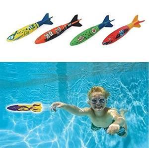 Efbock Dive Torpedo,Glides Under Water, Swimming Pool Throwing Torpedo
