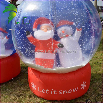 unique durable outdoor inflatable christmas snow globe house large newest inflatable decoration rotating snowflake globe