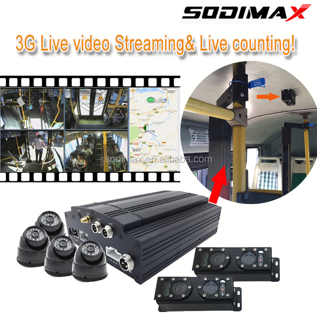 Sodimax professional 3g video counter with bus people counting camera