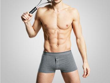 Men s Soft Mesh Boxer Briefs Underwear  Natural Breathable Trunks Boxer  Underpants 6da6cd88573f