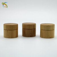 2017 Most Popular Round Cosmetics Bamboo Cream Jar With Bottom Price