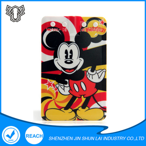 Mickey Weenie Stitch Protable Sport Super Bass Credit Card Music USB MP3 Player