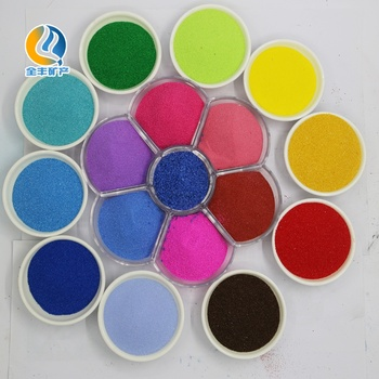 Manufacturer sale various color sand for art and decorative, kid playing and drawing with customized label, sticker and packing