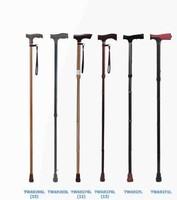 Medical equipment new design folding aluminum adjustable walking stick for disabled