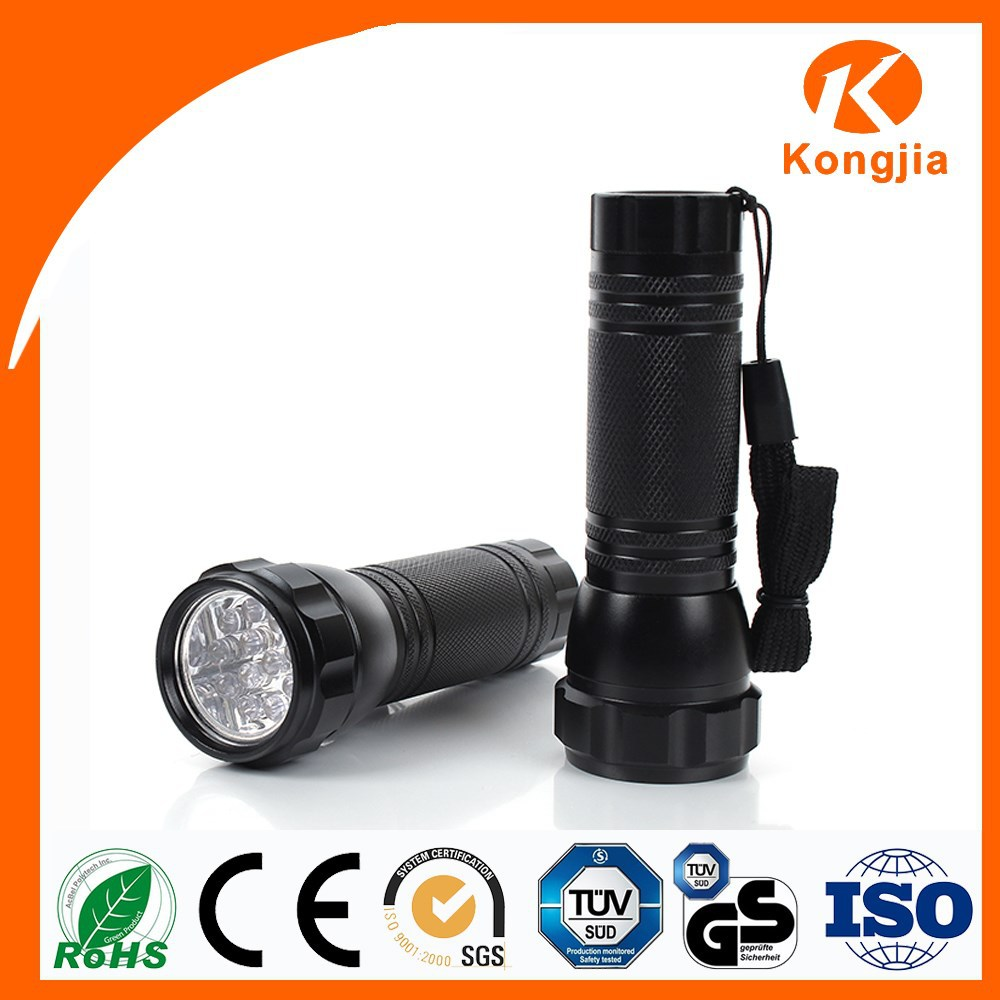 12 Led Promotional Gift Dry Battery Powered Mini Gem Torch