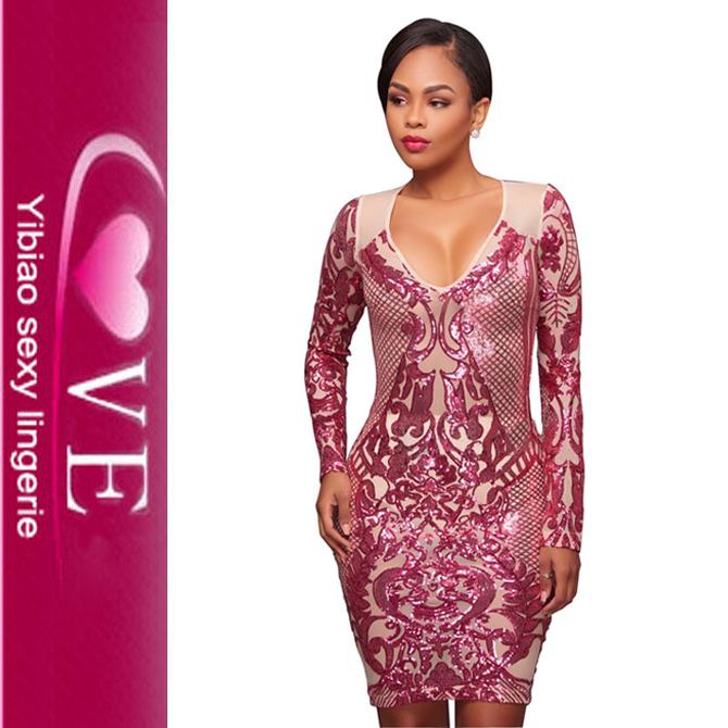 Venta al por mayor vestidos cortos elegantes con lentejuelas-Compre ...