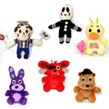 6pcs set 10cm Five Nights At Freddy s FNAF Freddy Bear foxy Bonnie Chica Plush Toys