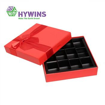 Recycle Custom Chocolate Gift Box for Chocolate Candy with Compartments