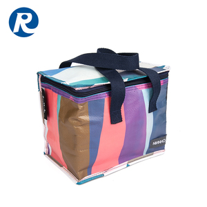 Custom insulated lunch ice cream wine bottle cooler bag
