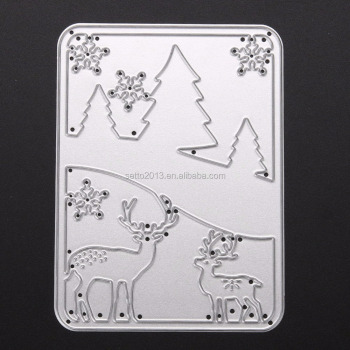 Merry Christmas Metal Cutting Dies Scrapbooking Die Cuts Photo Album