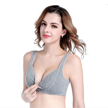 Cotton Thin No Rims Crossed Pregnant Bra Plus Size Gather Maternity Bra