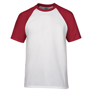 Blank White Raglan sleeve custom printing cotton t-shirts