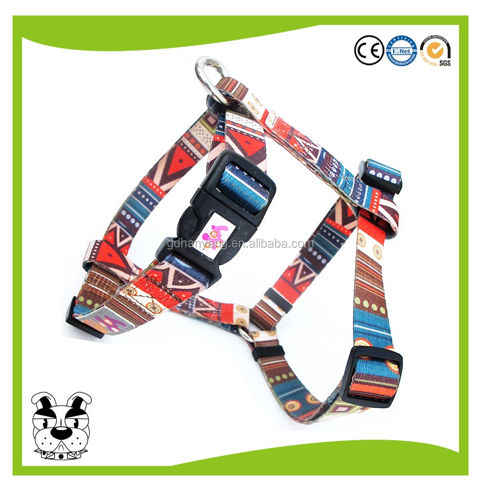 All seasons customized logo on label polyester dog collar wholesale
