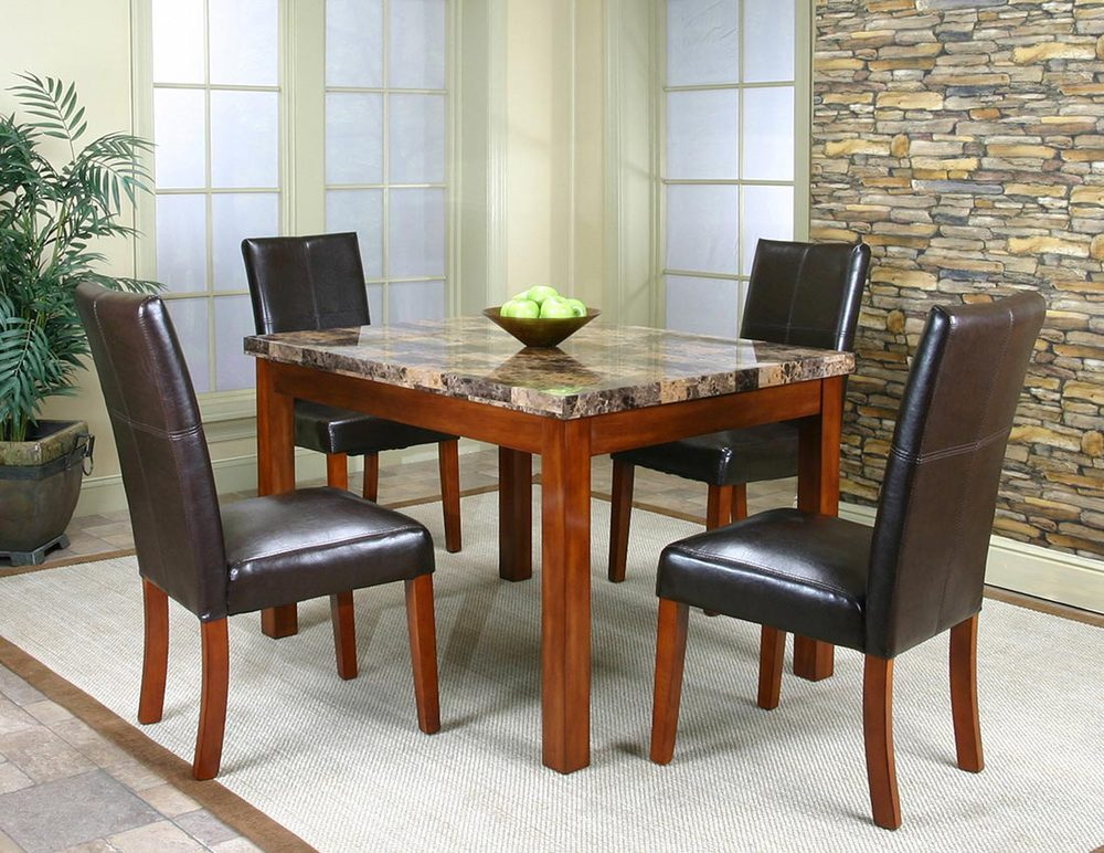 Faux Marble Dining Room Table And Chair