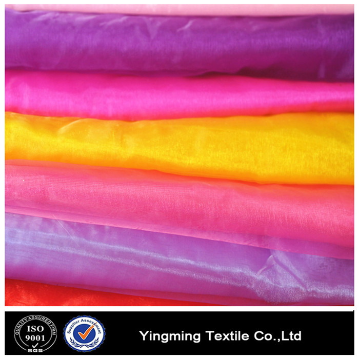 100P 20D Embroidered Silk Organza Fabric For Wedding Dress Skirt