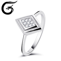 Diamond 925 silver china cz rings famous designers silver ring