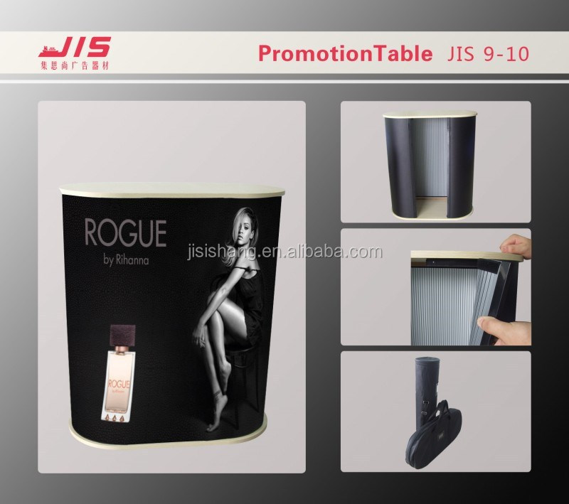 JIS9-10,Portable Oval shape PVC hollow plate PP board promotion counter booth