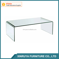 Alibaba Living Room Furniture New design bent glass coffee table for Promotion