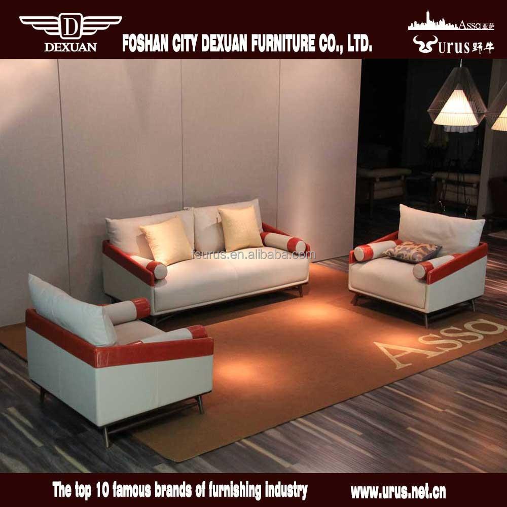 Post-moderne Italie grain supérieur en cuir meubles de salon ...