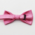 Fashion Polyester Woven Pink Hanky Bow Ties