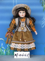 Brand New wholesale porcelain dolls with lovely dress